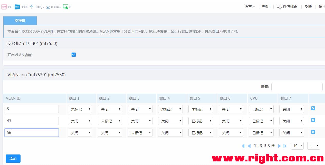 VLAN单线复用实现电信&IPTV@移动三网融合-沙唐桔