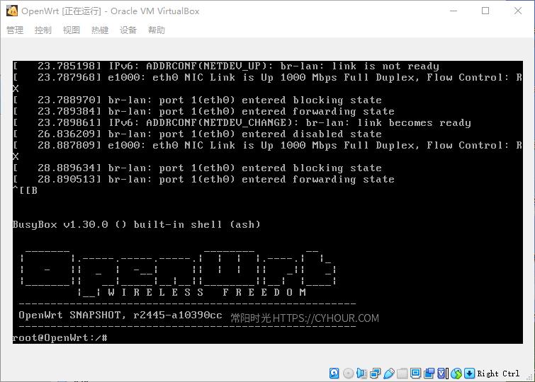 Win10 VirtualBox 安装 OpenWrt 作旁路由-沙唐桔