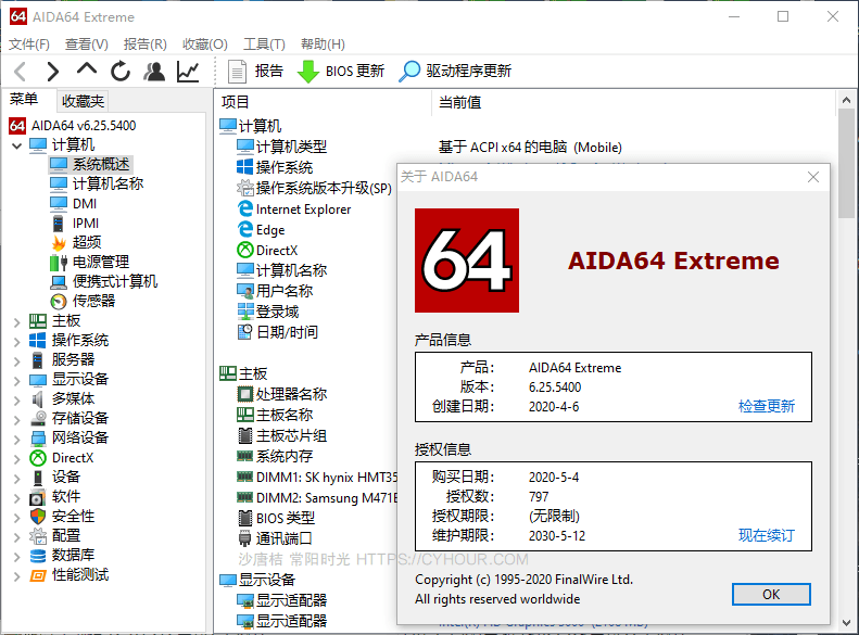 AIDA64 中文版 Extreme Business Engineer 绿色版 单文件-垃圾站