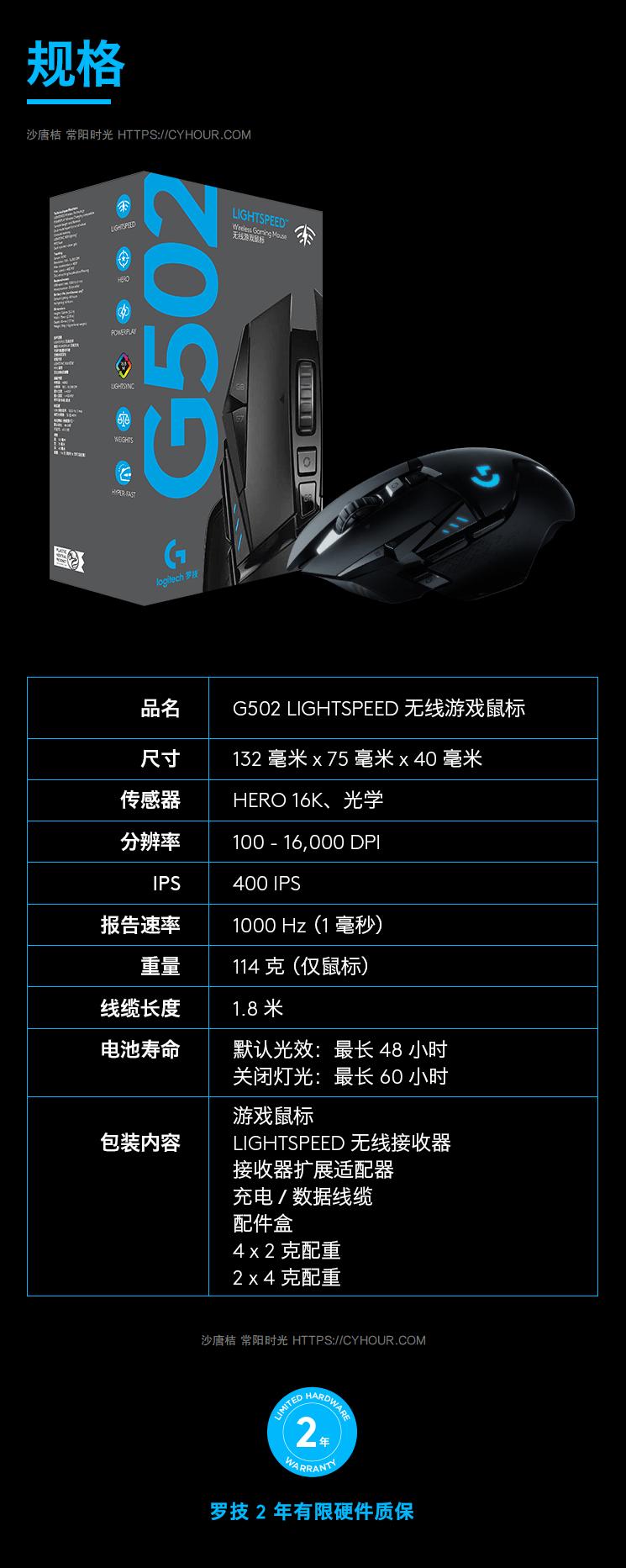 罗技(G) G502 LIGHTSPEED 无线鼠标 游戏鼠标 电竞鼠标 GPW Powerplay 无线充电-垃圾站