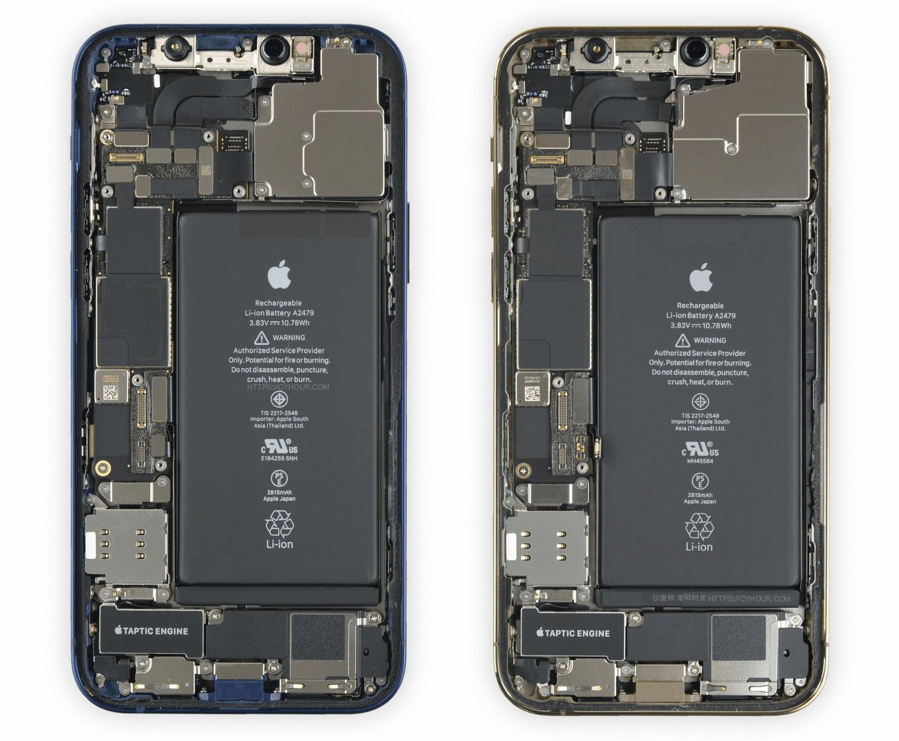 iPhone 12 和 iPhone 12 Pro 内部拆解壁纸 高清无水印 iFixit-沙唐桔