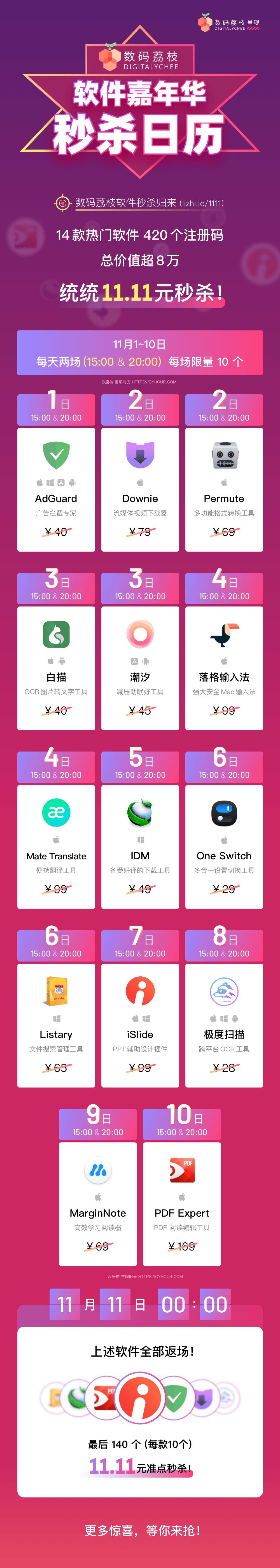 双十一正版软件嘉年华,秒杀、6 折活动全公开!-垃圾站