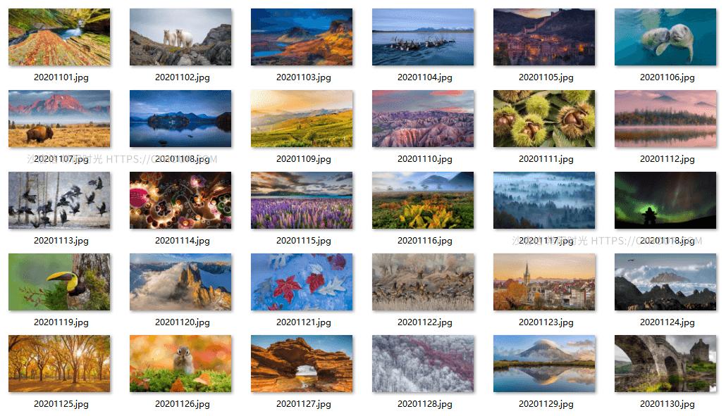 202011 微软 Bing 必应壁纸图片 30张 高分辨率 打包下载-沙唐桔