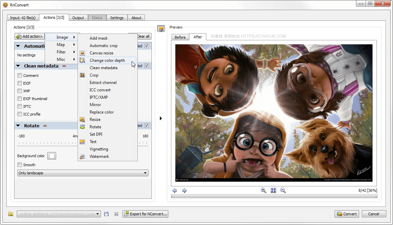 XnConvert 批量处理图片 缩放 添加水印 裁剪 批量重命名等-垃圾站