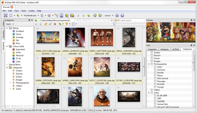 XnView 免费看图 秀图管理 批量处理图片添加水印、缩放、裁剪……-沙唐桔