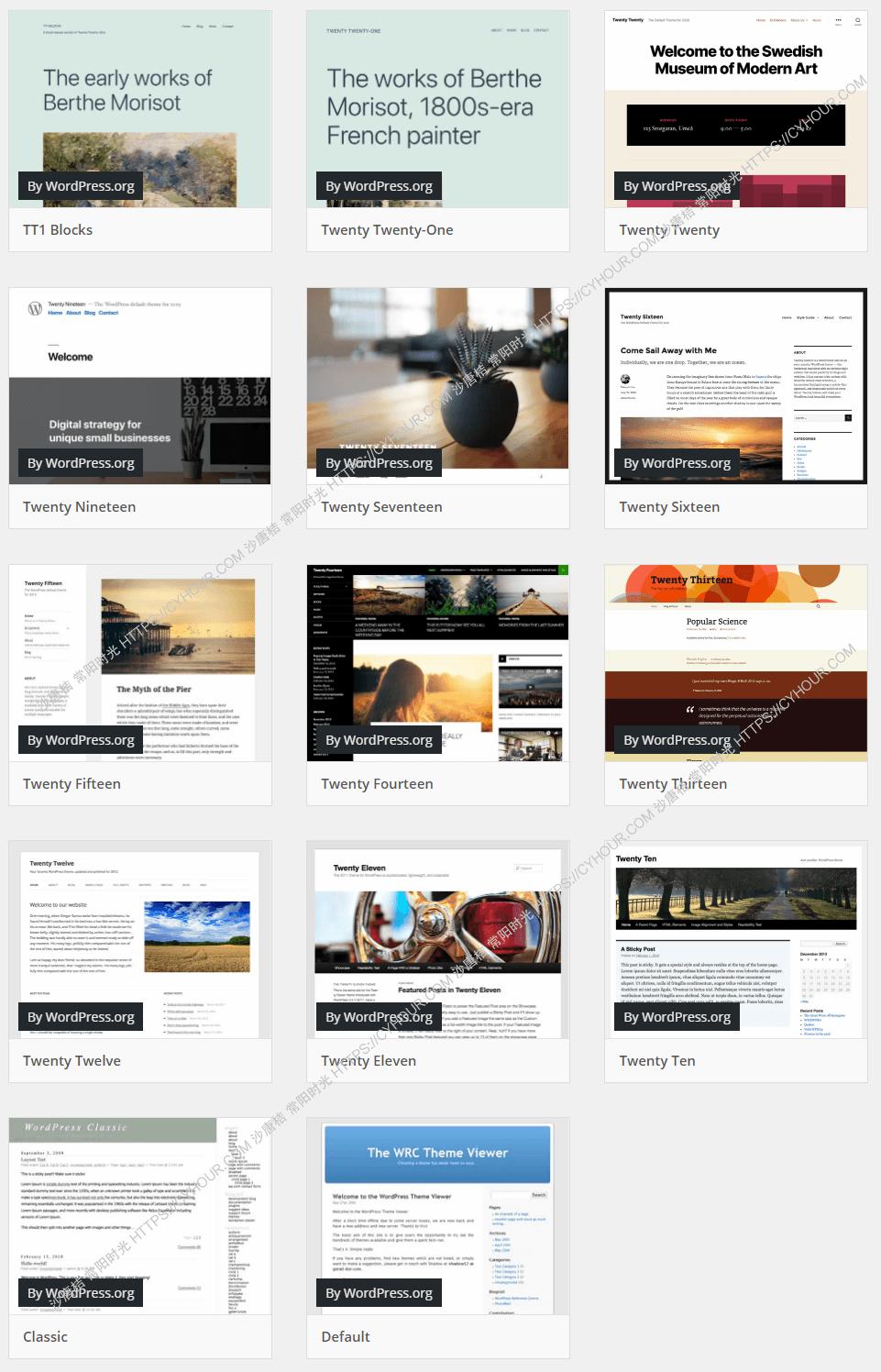WordPress 官方主题简单优化增强-垃圾站