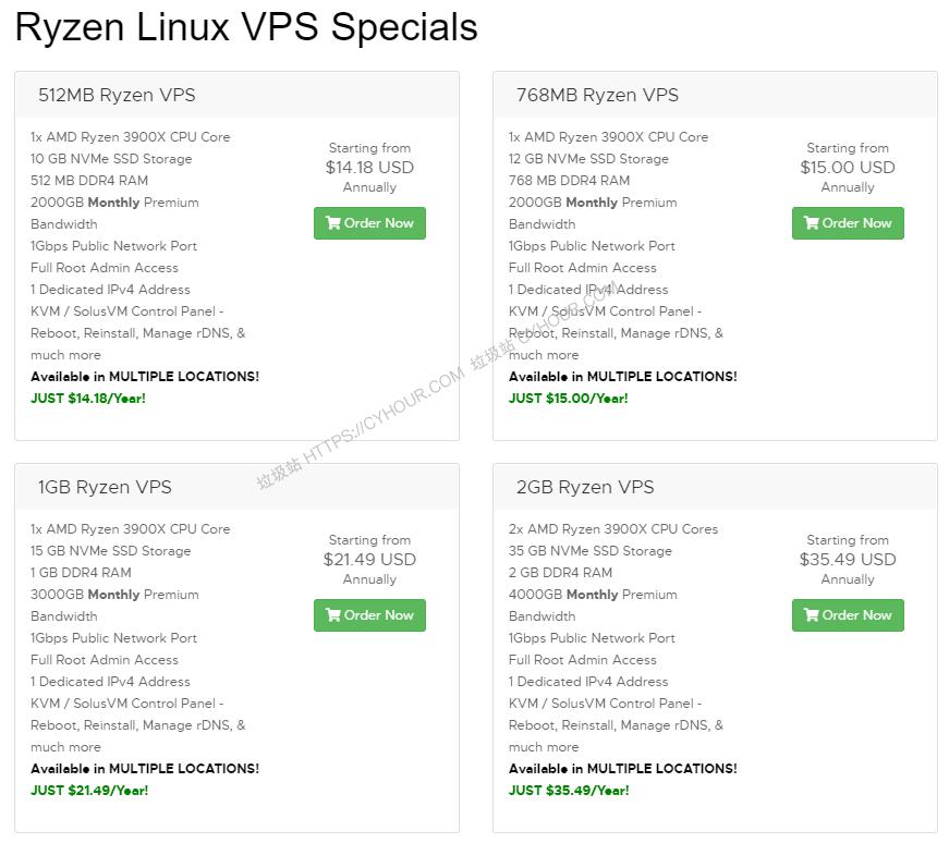 RackNerd 美国便宜VPS补货 1G内存/1核/20gSSD/3T流量 12.79/年 支持PayPal+支付宝-垃圾站