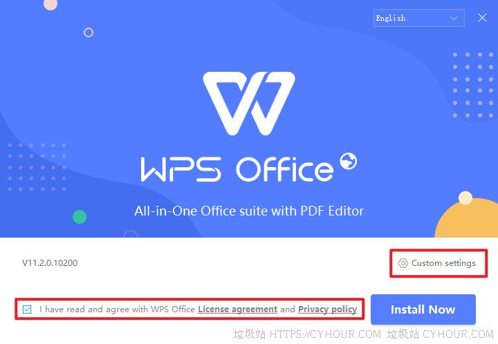 安装 WPS Office 国际版及不完美汉化-垃圾站