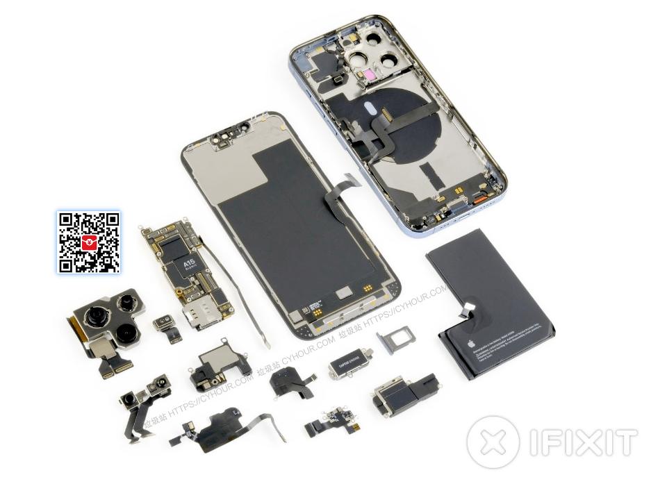 iPhone 13 Pro 和 iPhone 13 Pro Max 内部拆解壁纸 高清无水印 iFixit-垃圾站